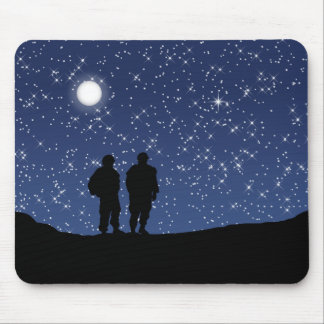 Military Silent Night Mouse Pads
