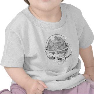Military Skull Art T Shirts