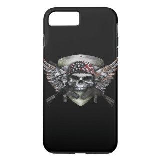 Military Skull With Crossed Gun Special Warfare iPhone 8 Plus/7 Plus Case