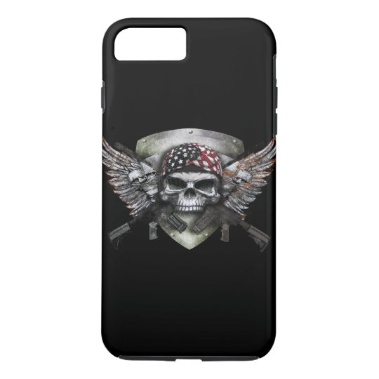 Military Skull With Crossed Gun Special Warfare iPhone