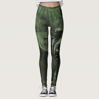 Military Soldier Leggings Helicopter War Zone
