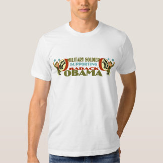 MILITARY SOLDIER SUPPORTING BARACK OBAMA TEE SHIRT