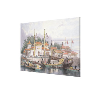 Military Station of the Chinese near the City of C Canvas Print