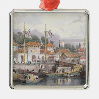 Military Station of the Chinese near the City of C Christmas Tree Ornament