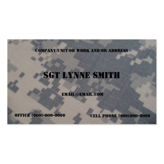Military Style Double-Sided Standard Business Cards (Pack Of 100)