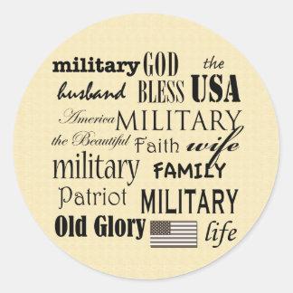 Military Subway Art Sticker