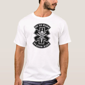 Military Tactical Medic Spartan Style Patch T-Shirt