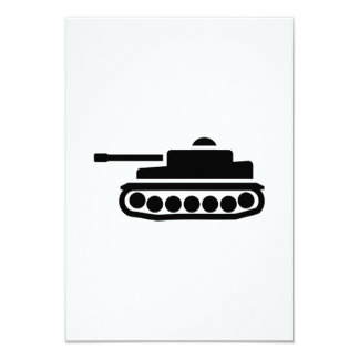 Military tank 3.5x5 paper invitation card
