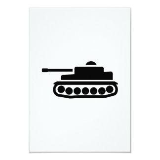 Military tank 9 cm x 13 cm invitation card