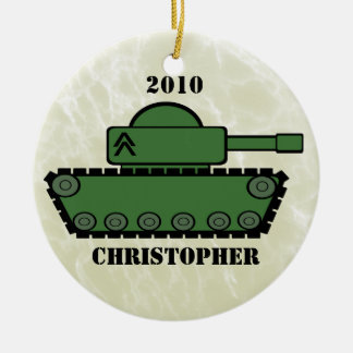 Military Tank Christmas Ornament