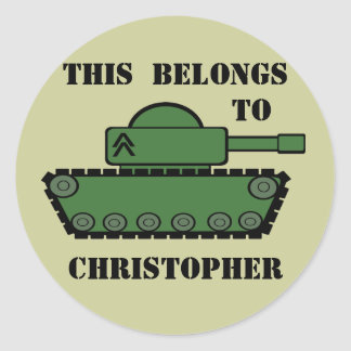 Military Tank Classic Round Sticker