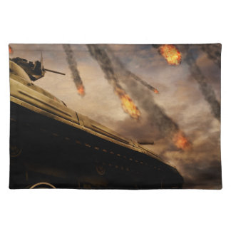 Military Tank on Battlefield Placemat