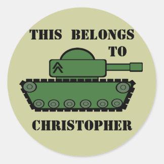 Military Tank Round Sticker