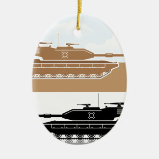 Military Tank simple vector Ceramic Oval Decoration