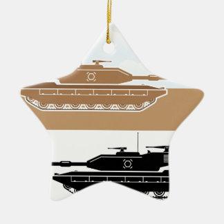 Military Tank simple vector Ceramic Star Decoration