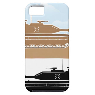 Military Tank simple vector Tough iPhone 5 Case