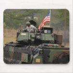 military tank with us flag mousepad