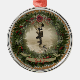 military thank you christmas ornament