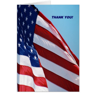Military Thank You Greeting Card