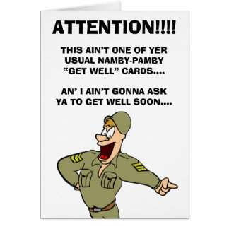 Military-Themed Get Well NOW Card