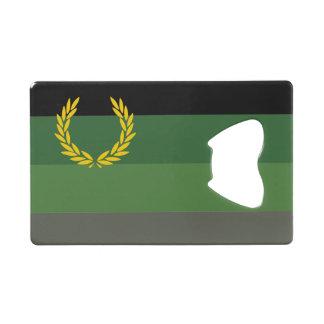 MILITARY UNIFORM PRIDE FLAG WALLET BOTTLE OPENER