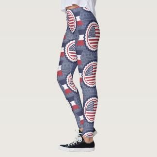 Military USA 4th of July Patriotic Legging