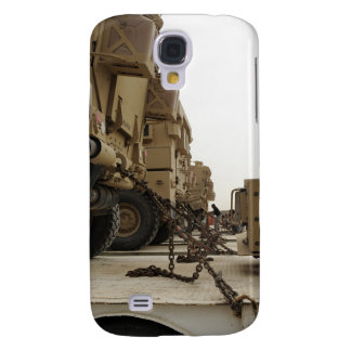 Military vehicles are locked down on semi truck galaxy s4 case