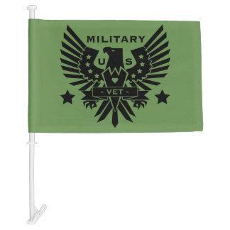 MILITARY VET_black design Car Flag