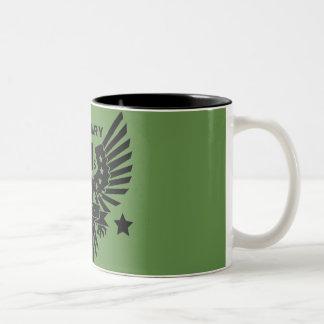 MILITARY VET_black design Two-Tone Coffee Mug
