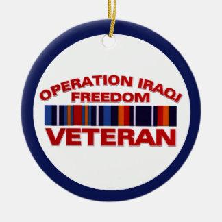 Military Veteran Operation Iraqi Freedom Custom Christmas Ornaments