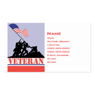 Military Veteran Pack Of Standard Business Cards