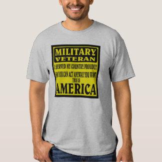 MILITARY VETERAN. T-SHIRTS