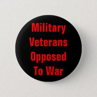military veterans opposed to war 6 cm round badge
