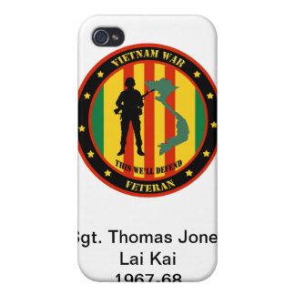 Military Vietnam War Veteran IPhone 4 Custom Case iPhone 4 Covers