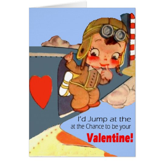 Military Vintage Airman Valentine Card