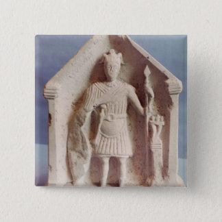Military votive tablet, found at Bisley, Roman (st 15 Cm Square Badge