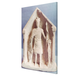 Military votive tablet, found at Bisley, Roman (st Canvas Print