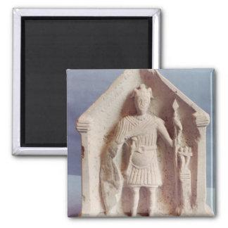 Military votive tablet, found at Bisley, Roman (st Magnet