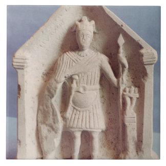 Military votive tablet, found at Bisley, Roman (st Tile