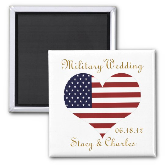 Military Wedding Favour Personalised Magnet