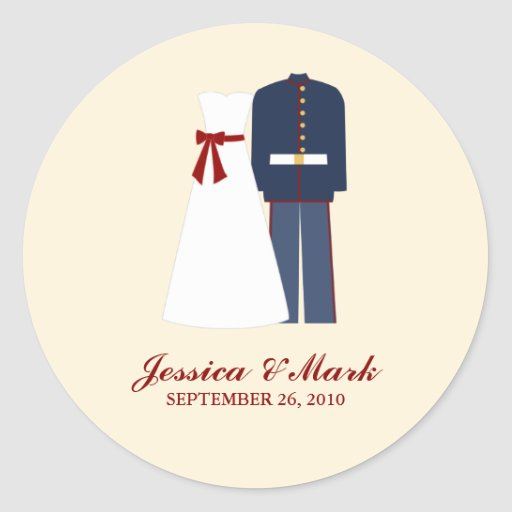 Military Wedding Stickers