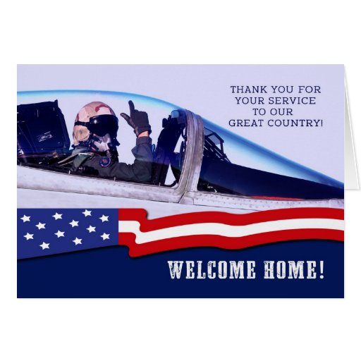 Military. Welcome Home! Customizable Greeting Card