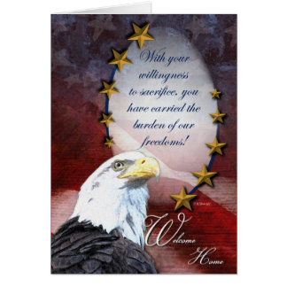 Military Welcome Home Greeting Card Greeting Card