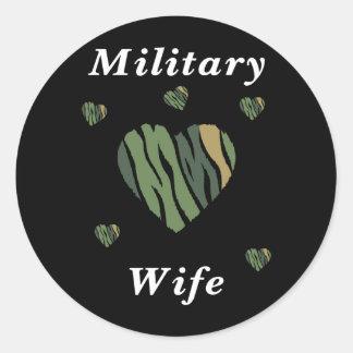 Military Wife Love Sticker