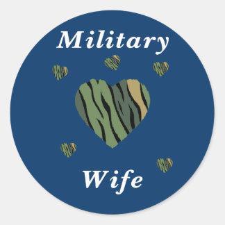 Military Wife Love Round Sticker