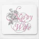 military wife rose mouse pad