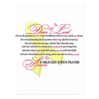 Military Wifes Prayer Post Card