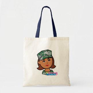 Military Woman Canvas Bag