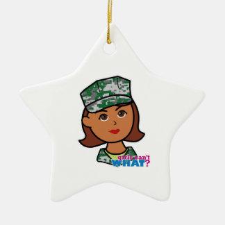 Military Woman Ceramic Star Decoration