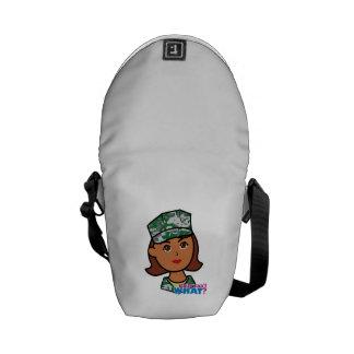 Military Woman Messenger Bags